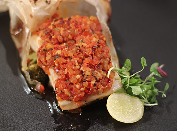 Tomato Chilli Baked Fish