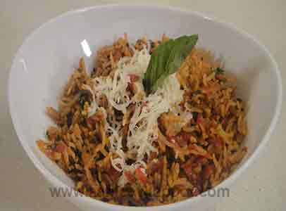 Tomato Rice with Herb and Cheese