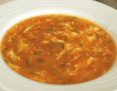 How to make Tomato Egg Drop Soup, recipe by MasterChef Sanjeev Kapoor