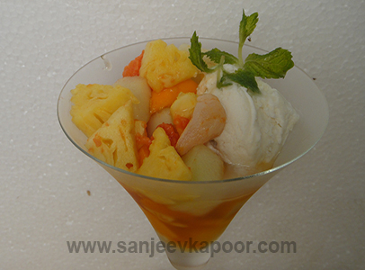 Tropical Fruits in Lemon Grass Syrup