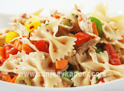 Tropical Chicken And Farfalle Salad