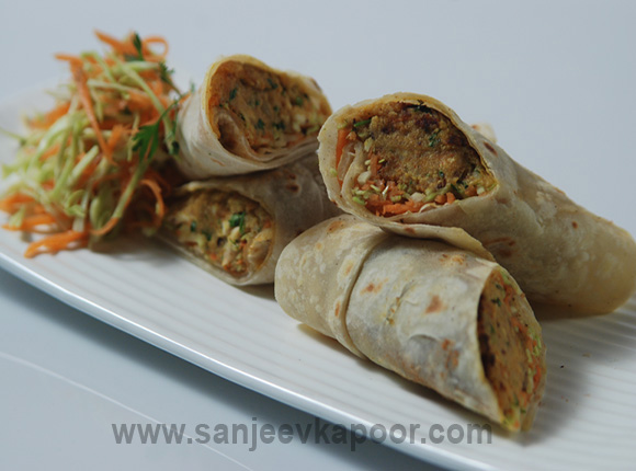 How to make vegetable frankie recipe by masterchef sanjeev kapoor forumfinder Images