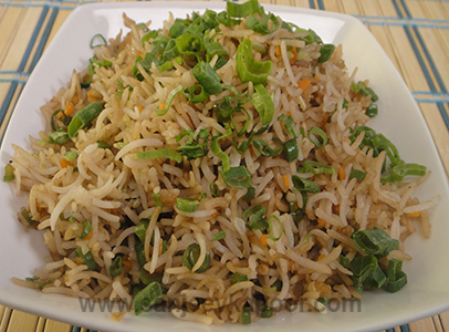 How to make vegetable fried rice recipe by masterchef sanjeev kapoor vegetable fried rice ccuart Choice Image