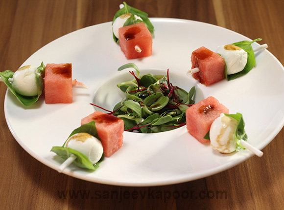 Watermelon and Fresh Mozarella Salad
