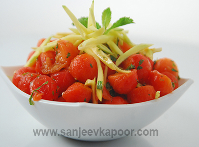 Watermelon and Papaya Salad