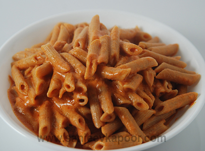 Whole Wheat Pasta With Creamy Vodka Sauce