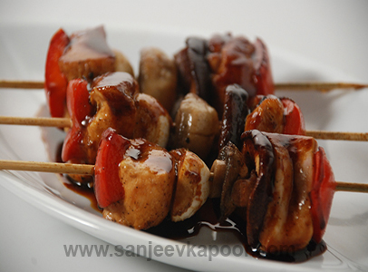 Yakitori Chicken With Spring Onion
