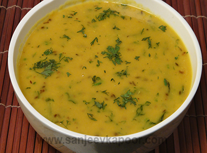 How to make yellow dal fry recipe by masterchef sanjeev kapoor you can also find more dals and kadhis recipes like panchmeli daliche varan forumfinder Images