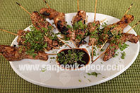 5 Spice Chicken Skewers with Chilli Soy Sauce