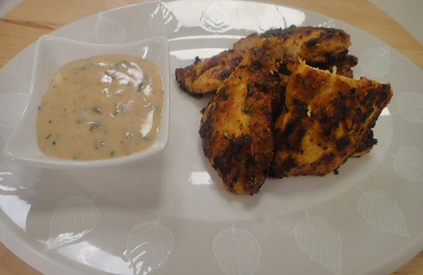 Batter Fried Chicken with Curry Mayonnaise