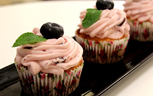 Blueberry Cupcakes with Blueberry Frosting