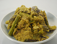 Brinjal and Drumstick Coconut Masala