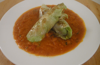 Cabbage Rolls in Tomato Gravy