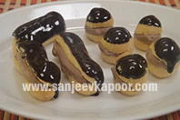 Chocolate Eclairs and Profiteroles