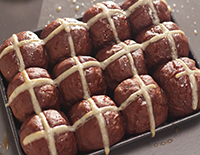 Chocolate Hot Cross Buns - SK Khazana
