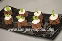 Coffee Mousse Canapes