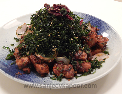 Crackling Spinach Chicken