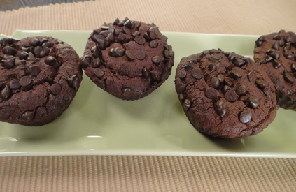 Eggless Chocolate Chip Muffins