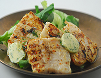 Grilled Fish with Coriander Butter - Cook Smart
