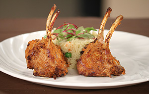 Lamb Chops with Curried Couscous