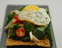 Peanut Butter Toast with Fried Egg-Cook Smart