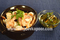 Poached Prawns with Simple Dipping Sauce