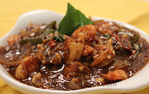 Prawn in Black Bean Sauce
