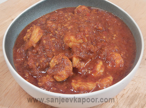 Prawns in Red Sauce - Goan Style