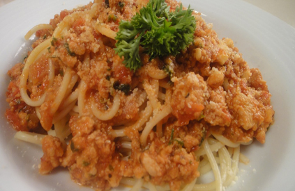 Spaghetti with Chicken Mince