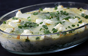 Spinach and Feta Clafouti