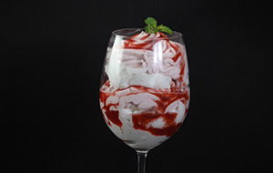 Strawberry Syllabub with Red Wine