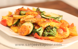Sweet and Spicy Vegetable Stir Fry