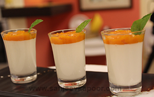 Yogurt Pannacotta with Stewed Mangoes